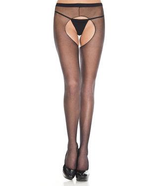 ClassyWear Jarretel panty in zwart