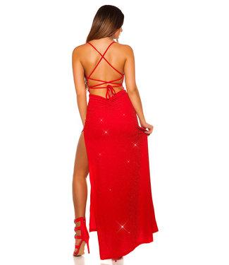 ClassyWear Elegante lange galajurk in rood