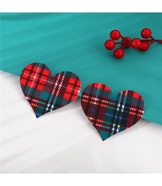 ClassyWear Kerst tepelplakkers (heart)