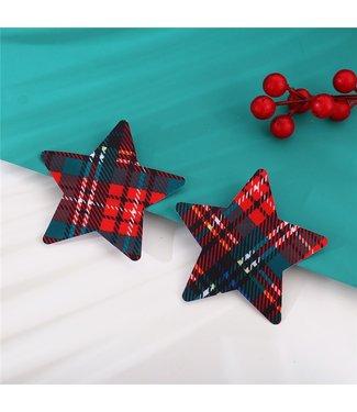 ClassyWear Kerst tepelplakkers (star)