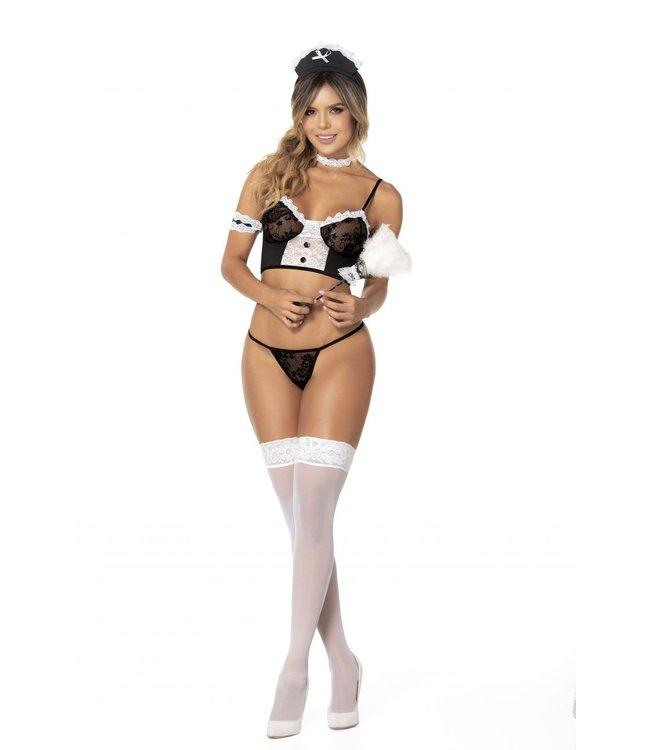 Mapalé Limited Sexy maid kostuum/lingerie setje