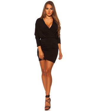 Wrap jurkje in zwart