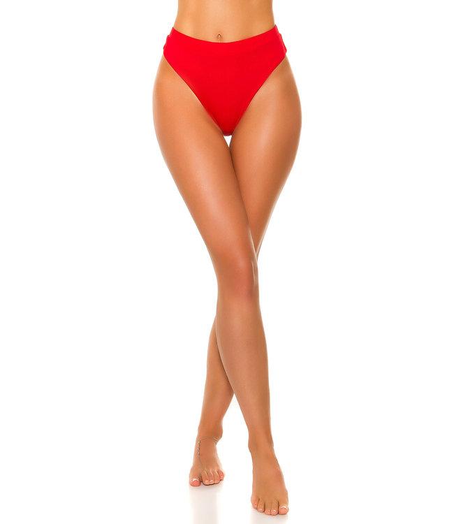 ClassyWear Mix it! Rood bikini broekje met hoge taille
