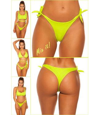 ClassyWear Bikini slip beach wear- Neongreen