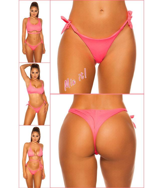 ClassyWear Bikini slip beach wear- roze