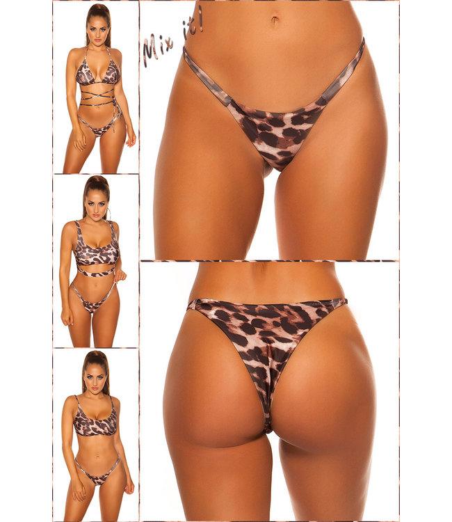 ClassyWear Brazilian bikini broekje (Panterprints)