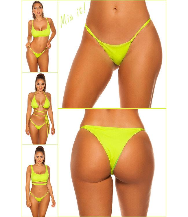ClassyWear Brazilian bikini broekje (Neongreen)
