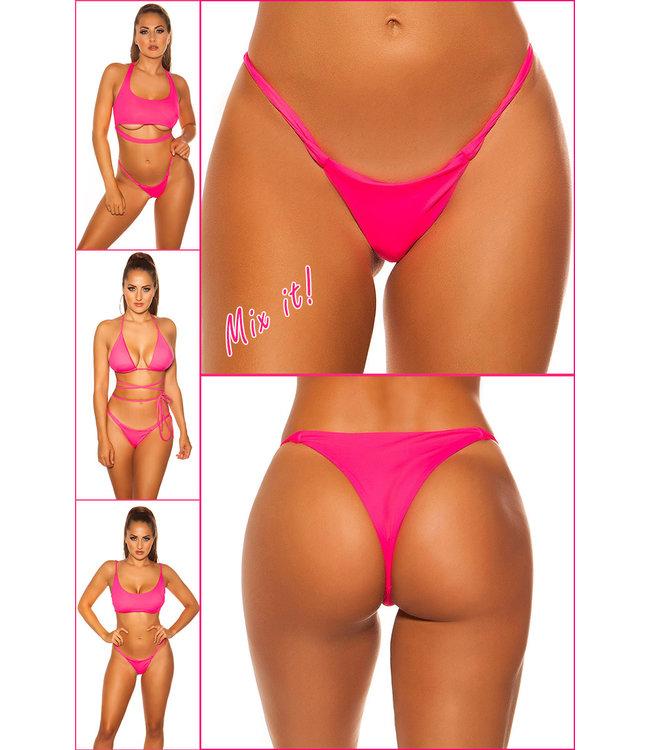 ClassyWear Brazilian bikini broekje (Neonpink)