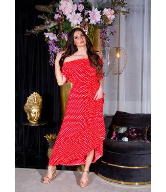 ClassyWear Summer maxi jurk-rood