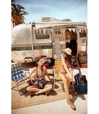 Mapalé Luxe bikini set - desert dusk stripes