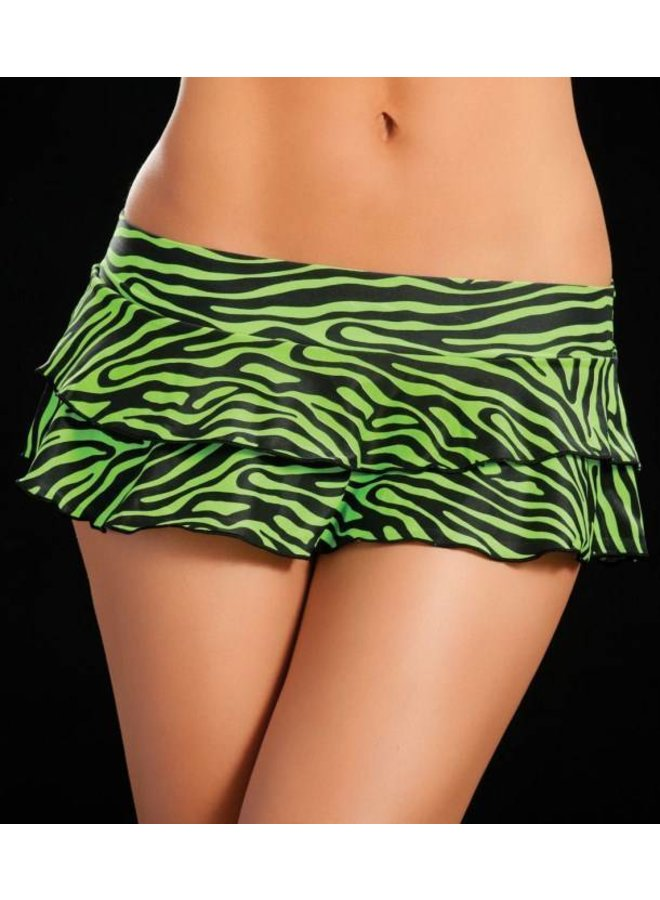 Rokje double layered (zebra green)