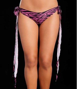 Mapalé Broekje lange sliert (zebra pink)
