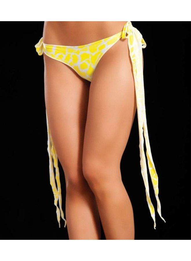 Broekje lange sliert (animal yellow)