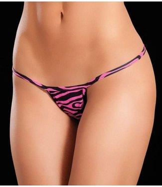 Y-back string (zebra pink)