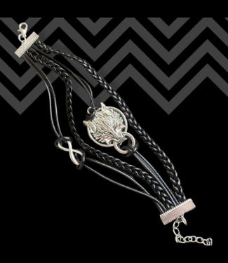 ClassyWear Oriental dragon leather armband