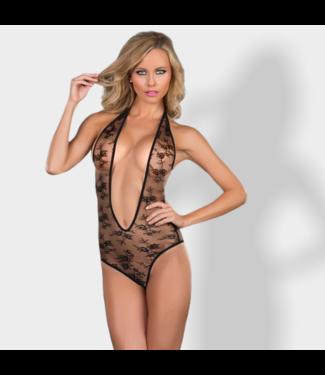 Mapalé Sexy kanten lingerie body - zwart
