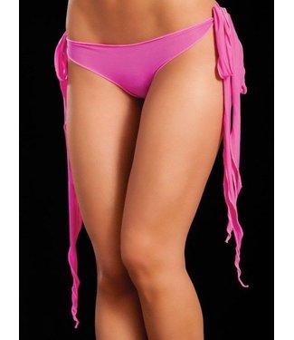 Broekje lange sliert (neon pink)