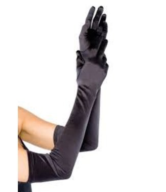 Zwarte glanzende handschoenen