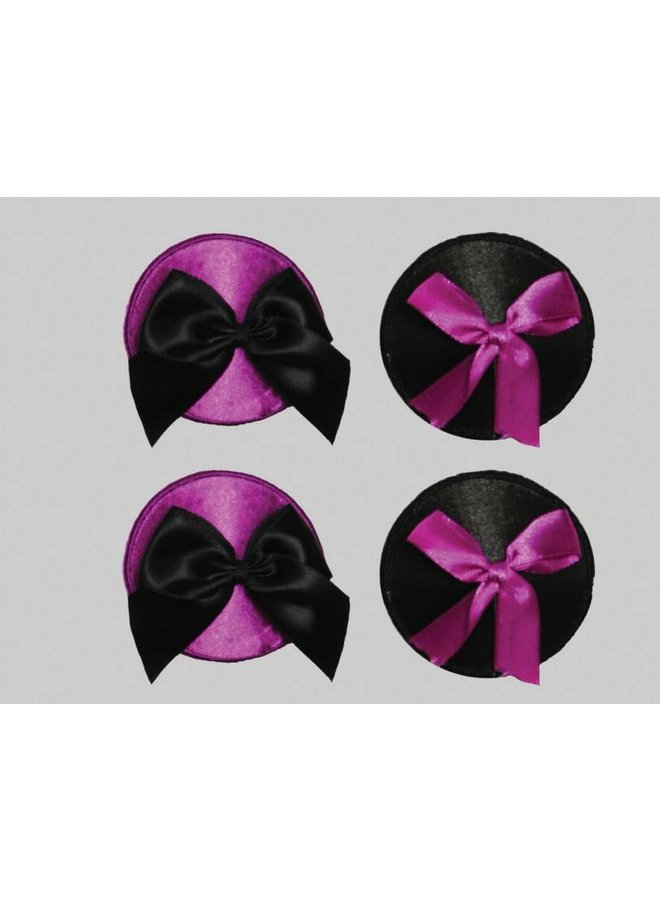 2-sets tepelplakker zwart/paars