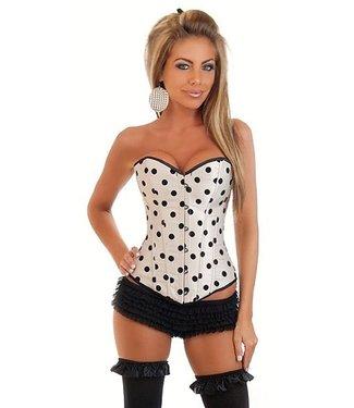 Beige corset met polkadot