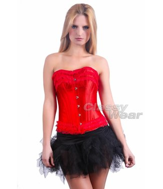 Glimmend roodkleurig corset