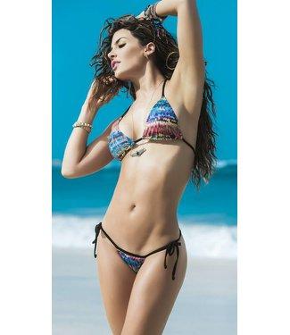 Multi color string bikini