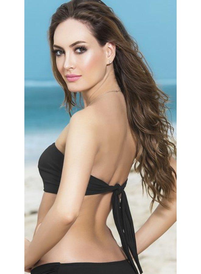 Bandeau bikini top (zwart)