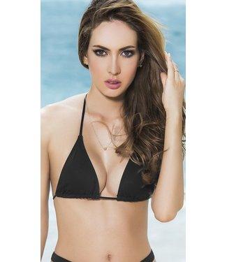 Espiral Lingerie Triangel bikini top (zwart)