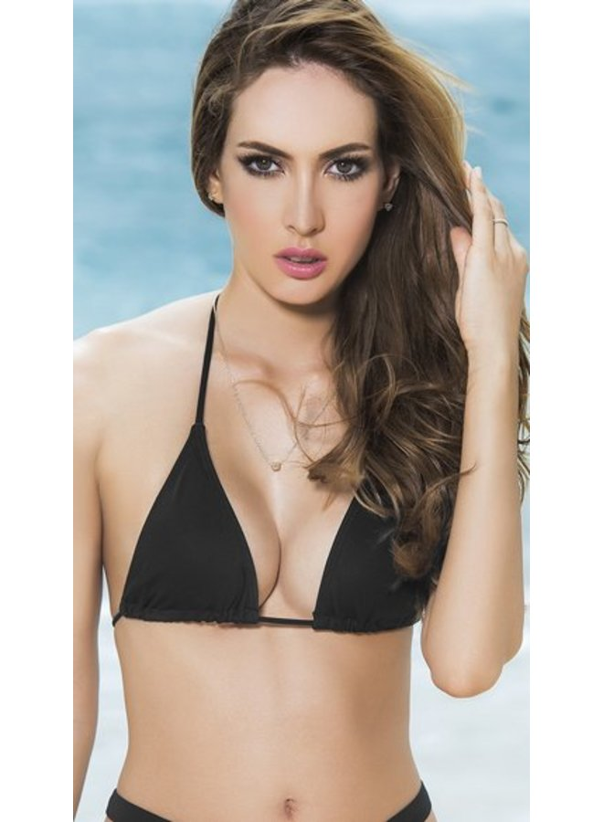 Triangel bikini top (zwart)