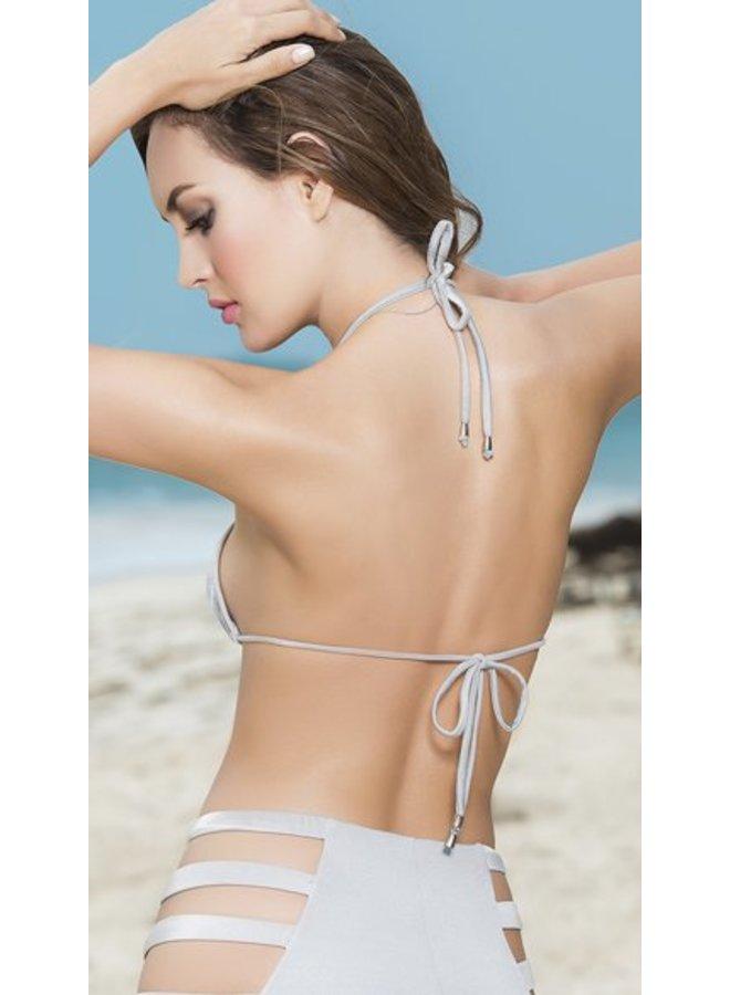 Triangel bikini top (silver)