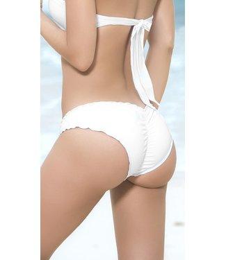 Ruffle bikini broekje (wit)