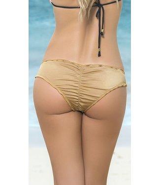 Espiral Lingerie Ruffle bikini broekje (goud)