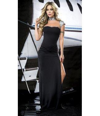 8e389b7bf37fd1 Espiral Lingerie Zwarte lange jurk