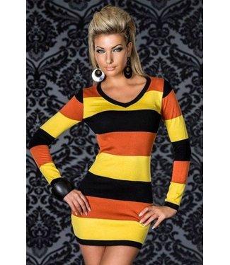 Multicolor jurkje met lange mouwen