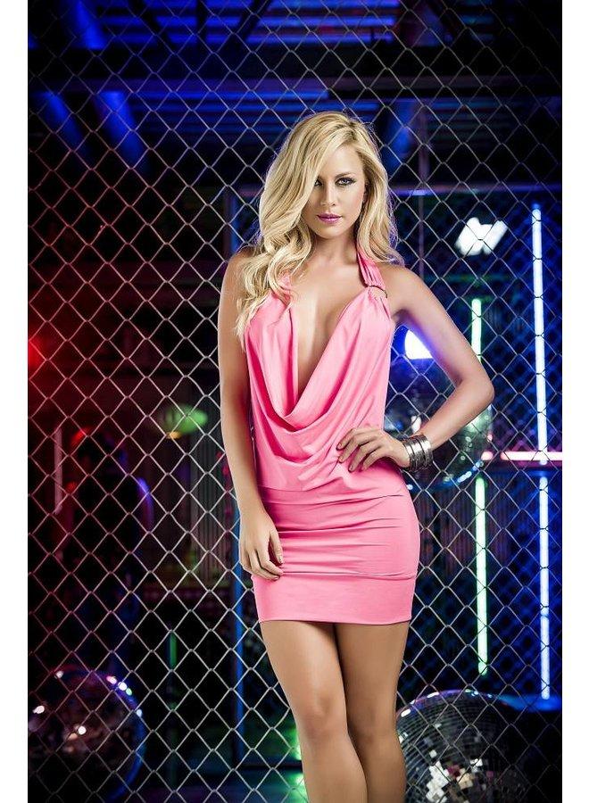 Sexy roze waterval jurkje