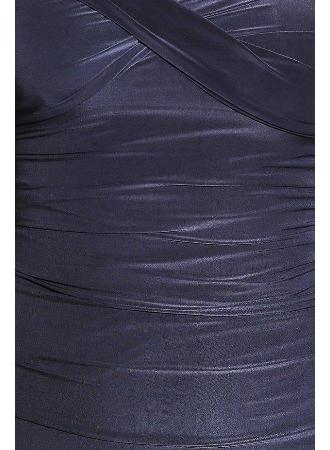 Grijs strapless jurkje