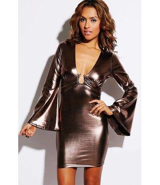 Bronze metallic jurkje