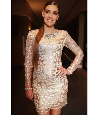 Pailletten jurkje goud