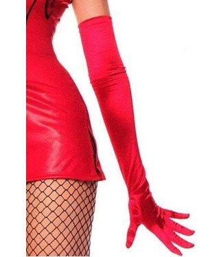 Rode glanzende handschoenen