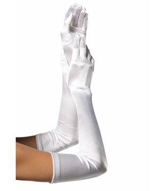 Witte glanzende handschoenen