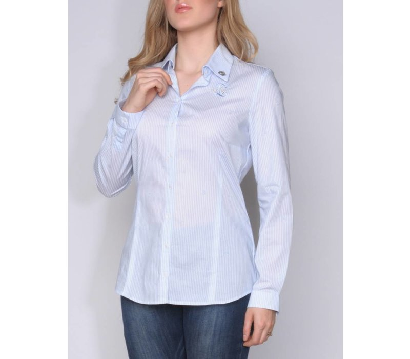 blouse CARROLA II whiteskyblue