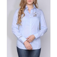 blouse CHARO skyblue-white