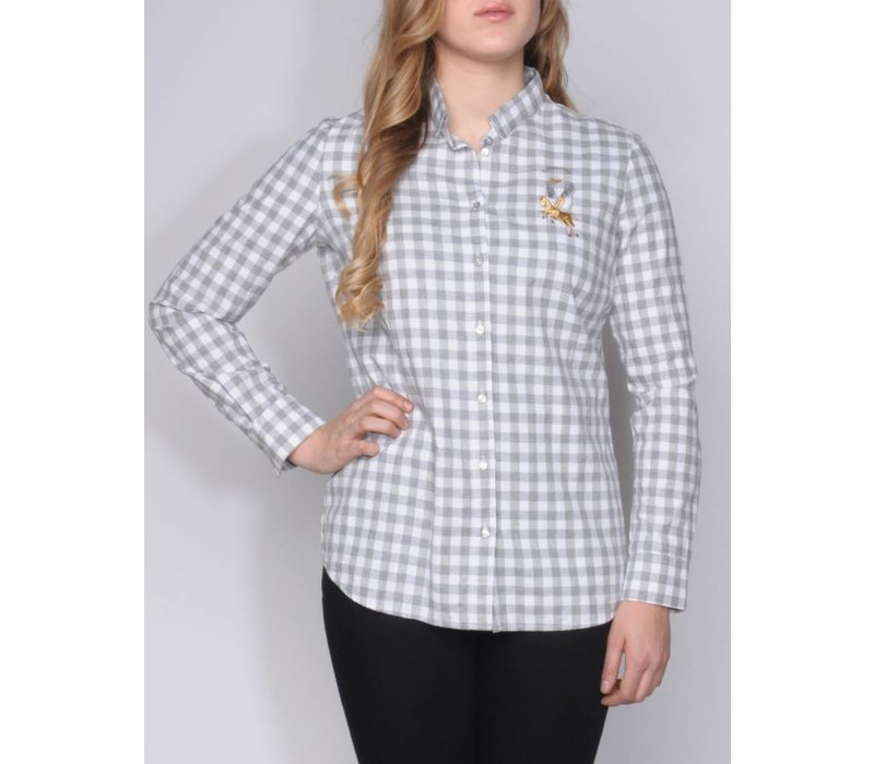 blouse CHICA silvergrey-white