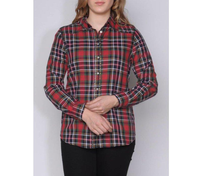 blouse CONSTANZA II d.red-multi