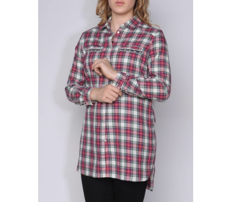 blouse CRUZITA II d.red-multi