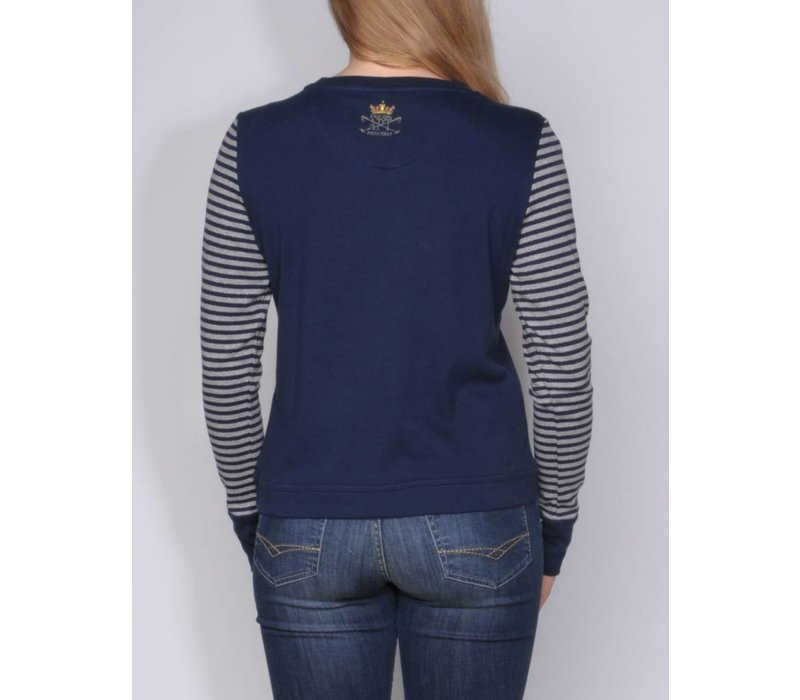 JOVINA MIDNIGHT NAVY | GREY