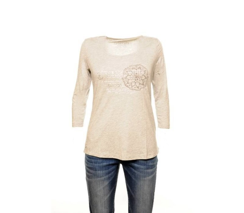 T-shirt SYLVIA silvergrey