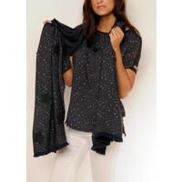 scarf CARILLA white-navy