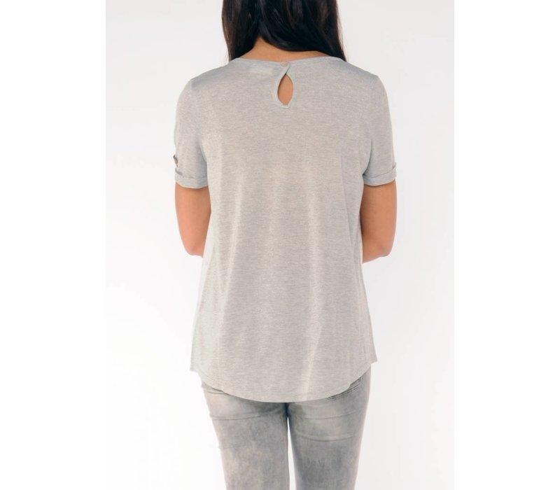 t-shirt SASSON white/silvergrey