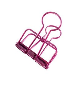Studio Stationery Binder Clips pink